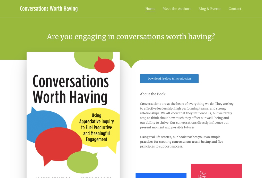 Conversations Worth Having Home Page
